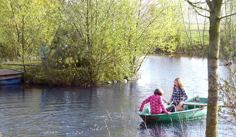 Ferienhof Joas in Gerolfingen, Boot fahren
