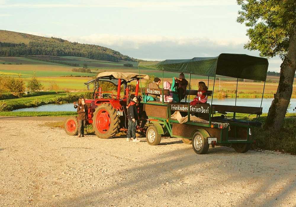 Planwagenfahren , Ferienhof Joas in Gerolfingen