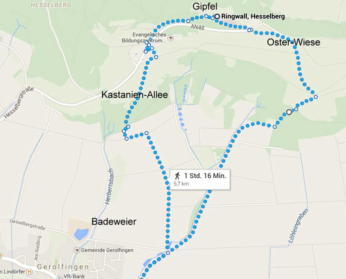 Wanderroute – Kleine Bergrunde, Ferienhof Joas in Gerolfingen