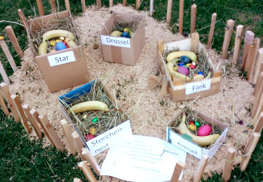 Wir Bauen Zusammen Ein Nest Für Den Osterhasen!!!